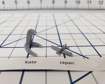 Aircraft - Kate - IJN Navy - 1:900 - Wargaming - Axis and Allies - Naval Miniature - Victory at Sea - Tabletop Games - Warships