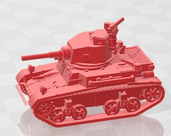 M2A4 - UK - Tanks - Armored Vehicle - World Of Tanks - War Game - Wargaming - Axis and Allies - Tabletop Games