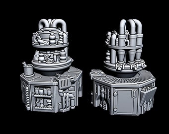 """Cantina Features - Novus Landing - Starfinder - Cyberpunk - Science Fiction - Syfy - RPG - Tabletop - Scatter - Terrain - 28 mm /1"""" Scale"""