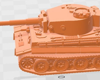Tiger I Mid - Germany - Tanks - Armored Vehicle - World Of Tanks - War Game - Wargaming -Tabletop Games