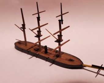 USS Housatonic - Union - Ships - Sailboats - Age of Sail - War Game - Wargaming - Tabletop Games - 1/600 Scale