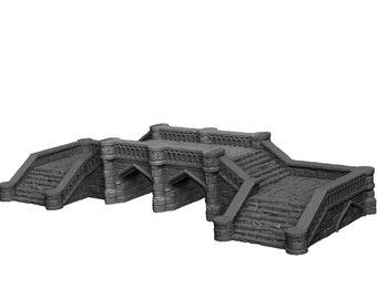 Stone Bridge 2 - DND - Dungeons & Dragons - RPG - Pathfinder - Tabletop - TTRPG -  Dark Realms - 32 mm