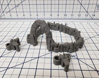 "DungeonSticks - Wet Cavern Style - DND - Pathfinder - Dungeons & Dragons - Terrain - RPG - Tabletop - 28 mm / 1"""