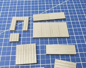 "Wood Floor Tiles - Dragonshire - Building - Fat Dragon Games - DND - Pathfinder - RPG - Terrain - 28 mm/ 1"" - Dungeon & Dragons - Warhammer"