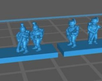 Austrian Line w Kasket and Jaegers skirmishing - Great for Table Top War Games And Dioramas - Resin 6mm Miniatures - Bolt Action -