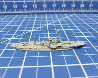 Battleship - Florida Class - Utah c.1941 - US Navy - Wargaming - Axis and Allies - Naval Miniature - Victory at Sea -Tabletop Games-Warships