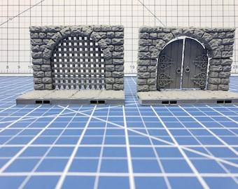 "Keep Style - Entry Tiles- DragonLock - DND - Pathfinder - RPG - Dungeon & Dragons - 28 mm / 1"" - Terrain - Fat Dragon Games"