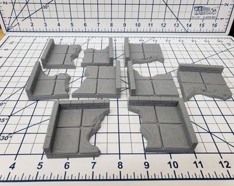 "Chasm Wall Tiles - EC3D - DND - Pathfinder - Dungeons & Dragons - RPG - Tabletop - 28 mm / 1"" - True Tiles"