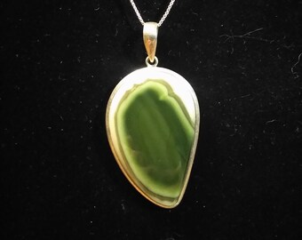 Imperial Jasper Necklace in Sterling Silver