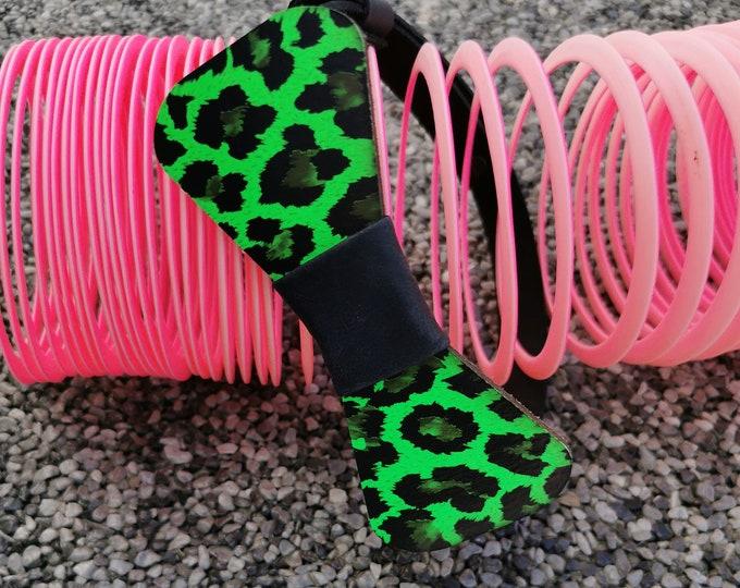 Leather Bow Tie Neon Leo