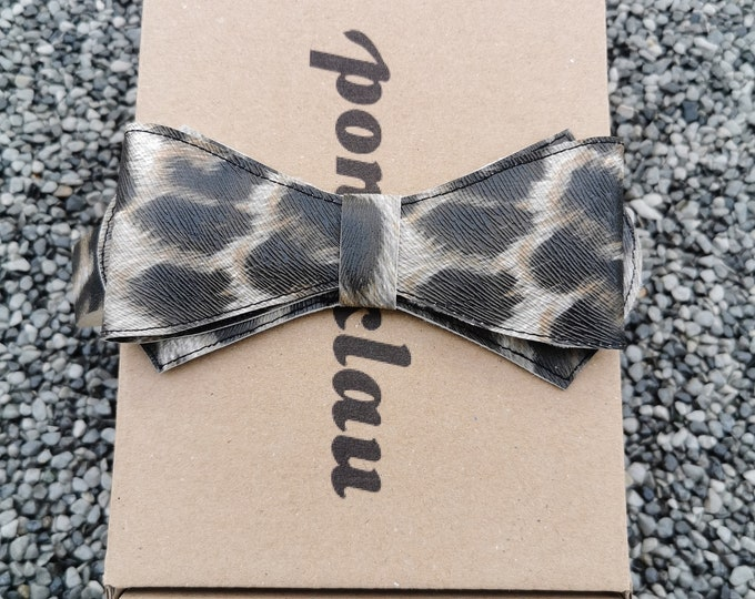 Faux leather fly 'Leopard'