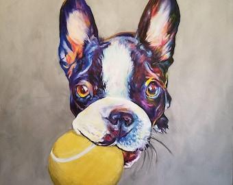 Personalised  Pet Portrait Painting  - Clean & Simple