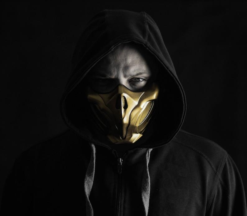 Scorpion mask from mortal kombat 11 Netherrealm Rage