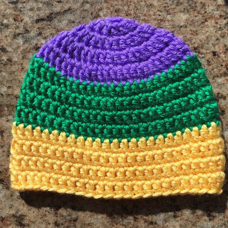 Colorblock PGG Mardi Gras Beanie