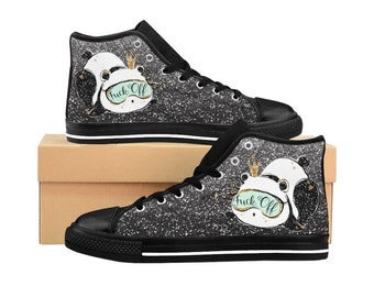 f3f79bb9c8b Panda Glittery Women s High Top Sneakers