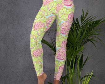 3270a5168303c8 Lemon leggings, Women leggings ,Yoga Pants Slim, Printed leggings, Urban Lemon  Leggings, Lemon style leggings