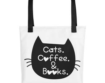 Cats books tote bag  9fb4e706b26af