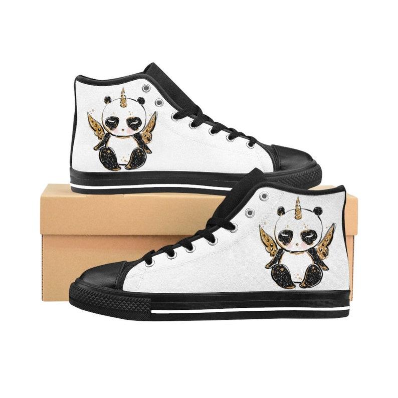 9479434578f Womens High Top Sneakers Panda Print High Top Shoes Sneakers
