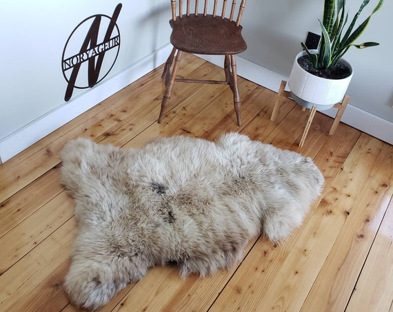 Large Genuine natural sheepskin Extremely THICK + SOFT | wool fur pelt hide rug throw