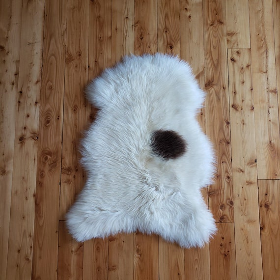Natural Soft Genuine Sheepskin fur throw rug