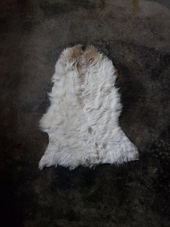"27"" Small Decorative Genuine Sheepskin Spanish Curly Lambskin Fur Throw Rug Pelt or Hide"