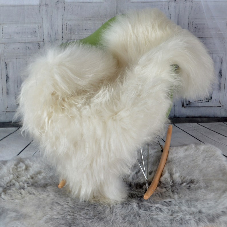 d4a273f4a7 White Vikings Iclenadic Genuine Sheepskin Fur Throw Rug Hide or Pelt