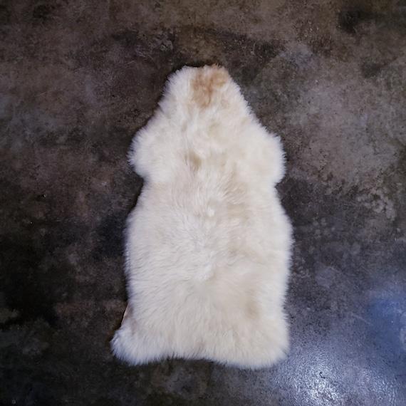 white Silky Soft Swedish Large Genuine Sheepskin fur pelt throw rug hide