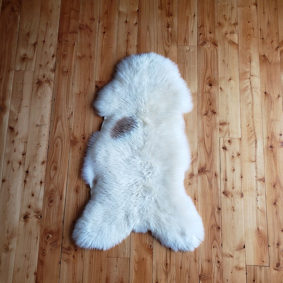 "50"" X 27"" lux soft Genuine sheepskin Fur throw rug"