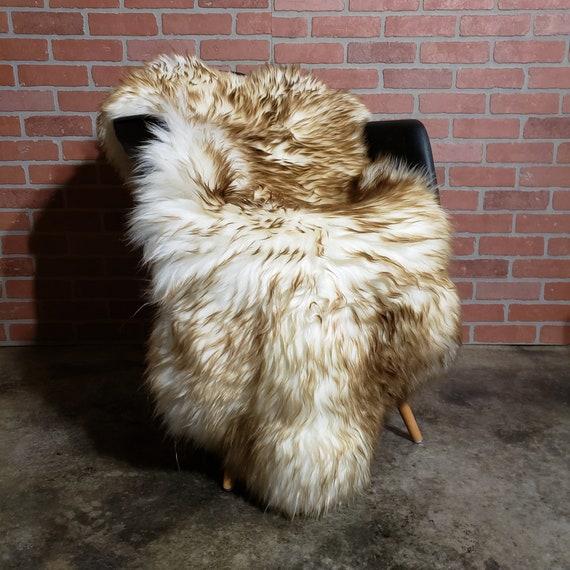 plush soft thick large Genuine sheepskin Fur throw rug