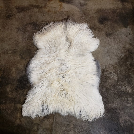 Heidschnucke Genuine Sheepskin fur throw Rug