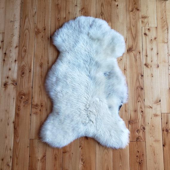 """46"""" X 27"""" unique  Genuine sheepskin Fur throw rug"""