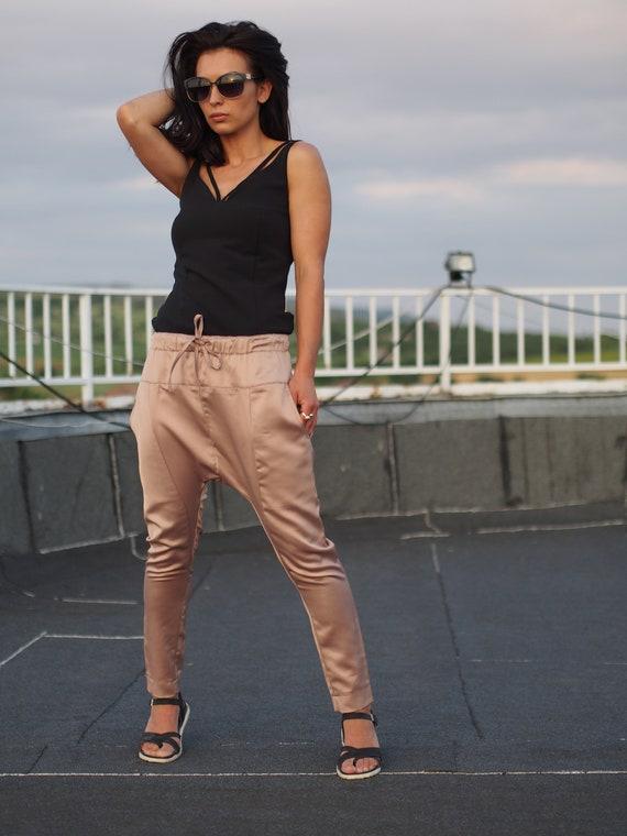 harem pants drop crotch extravagant pants Woman drop crotch woman pants 4xOqI48Yw