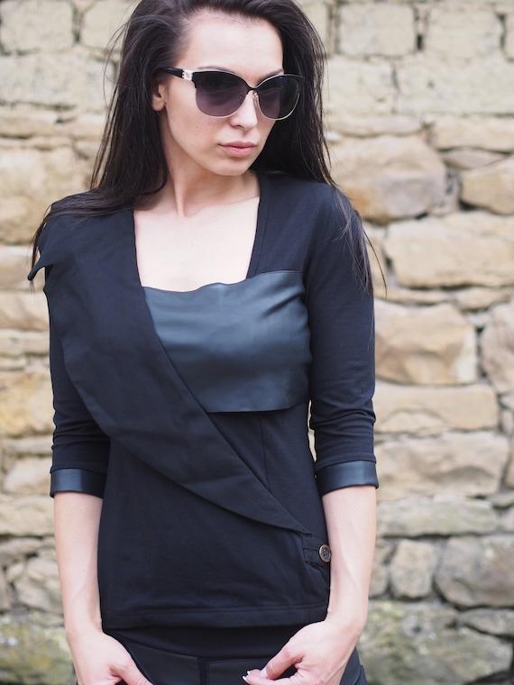 party Extravagant blouse extravagant woman top black top woman twqT1