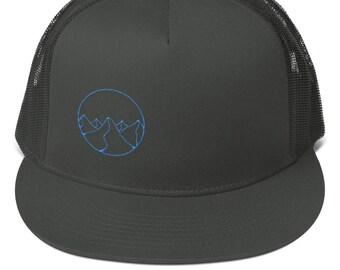 Geometric Mountains Flat Bill Hat