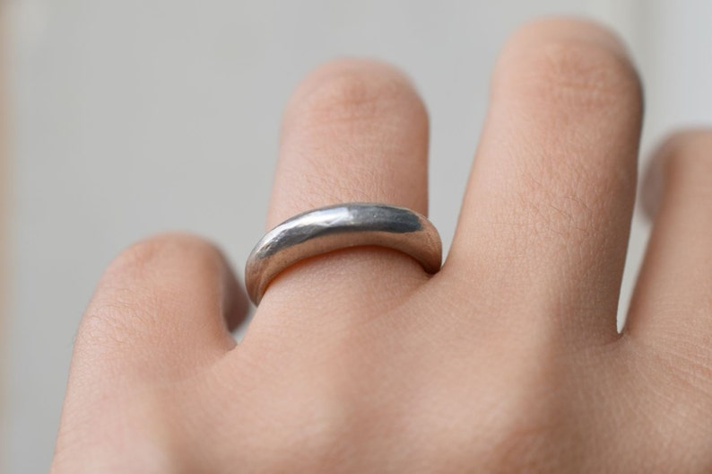 Bold silver ring Silver statement ring Sculptural silver ring Handmade Silver ring Hand Carved Silver Ring Skinny sterling silver ring