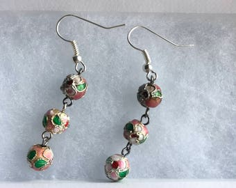 Hanging Flower Bead Earrings