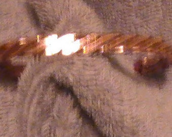 3 WIRE HAMMERED Copper Bracelet