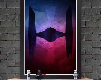 Tie Fighter – Star Wars X-Wing Poster Lustre Print