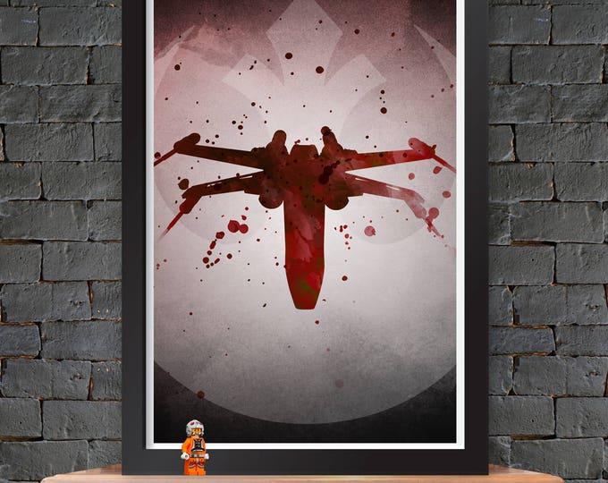 X-Wing – Star Wars X-Wing Poster Lustre Print