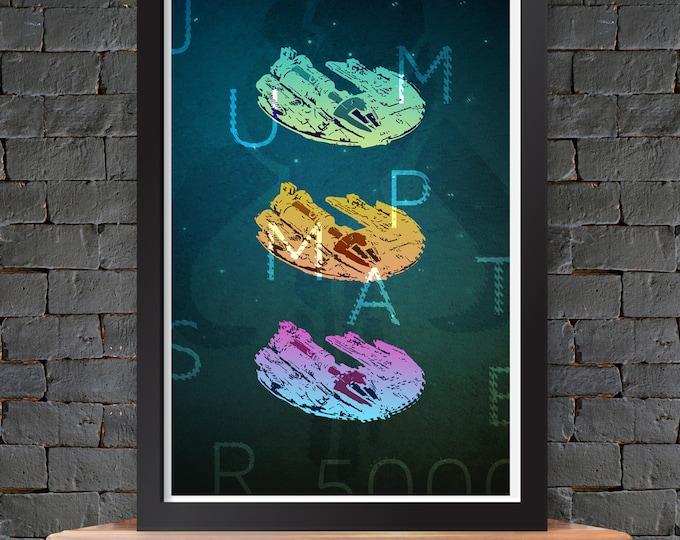 Jumpmaster 5000 – Star Wars X-Wing Poster Lustre Print