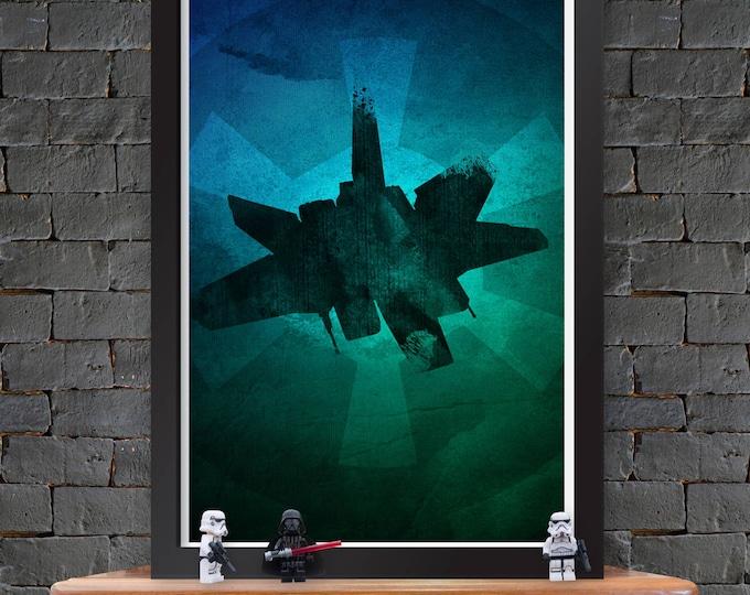 Alpha-class Star Wing – Star Wars X-Wing Poster Lustre Print
