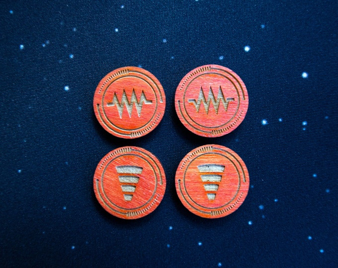 Jam & Tractor Beam Double-sided Tokens – X-Wing 2.0