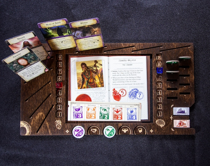 Featured listing image: Eldritch Horror Player Board - Kona Wood Stain