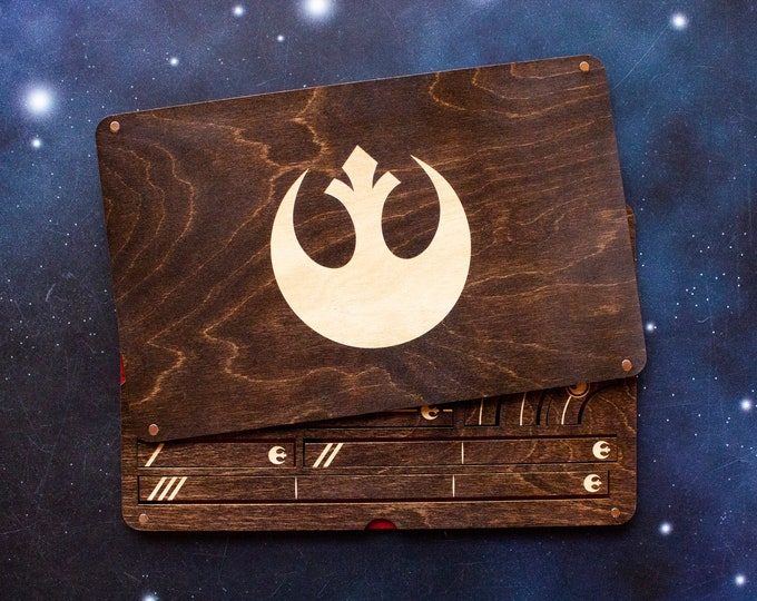 Featured listing image: X-Wing Miniatures Template Tray 2.0 - Rebel Edition - KONA Color
