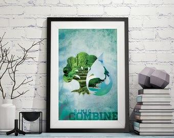 Simic Combine – Magic The Gathering Poster 11x17 Lustre Print