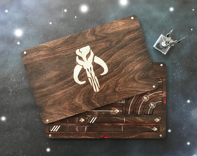 Featured listing image: X-Wing Miniatures Template Tray 2.0 - Scum And Villainy Edition - KONA Color