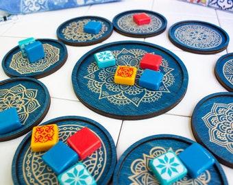 Azul Tile Holders - Blue Color - Complete Set