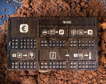 Terraforming Mars Player Resource Board - Kona