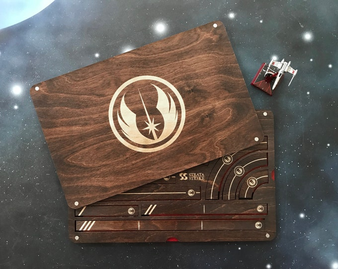 Featured listing image: X-Wing Miniatures Template Tray 2.0 - Jedi Order