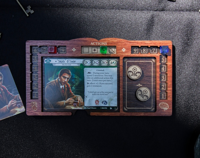 Featured listing image: Arkham Horror LCG Player Board - Cognac and Kona Color